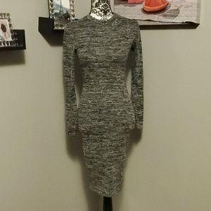 Lulu's gray sweater dress
